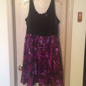 Lane Bryant purple patterned dress
